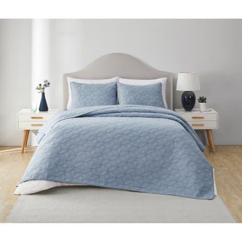 VCNY Home Circle Textured Cotton Quilt Set