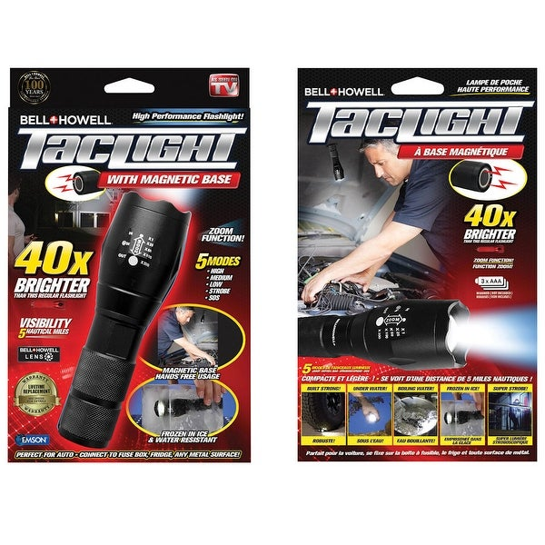 d99bd32baf5c1d Shop Bell + Howell Taillight Magnetic Hands-Free Tactical Flashlight - Free  Shipping On Orders Over $45 - Overstock - 16775321