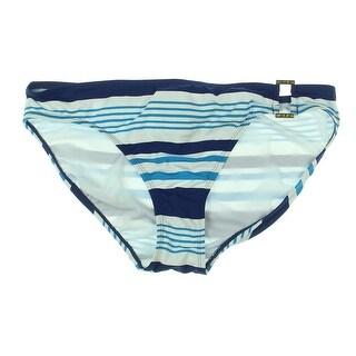 Lauren Ralph Lauren Womens Striped Hipster Swim Bottom Separates