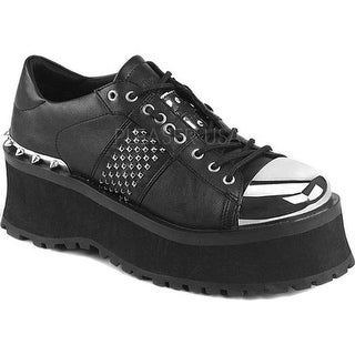 Demonia Men's Grave Digger 02 Oxford Black Vegan Leather