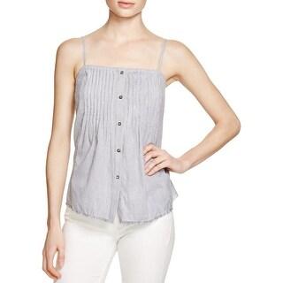 Soft Joie Womens Averie Tank Top 100% Cotton Pintuck