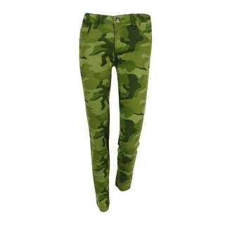 Celebrity Pink Juniors' Camo Print Skinny Pants - duffel green - 3