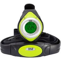 Pyle pro(r) phrm38gr heart rate monitor watch with minimum, average & maximum heart rate (green) - Green