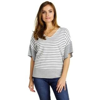 Cable & Gauge Women's Short Sleeve Dolman Sleeve Top
