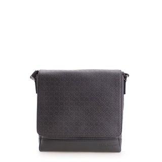 Salvatore Ferragamo Circle Pattern Ginny Leather Satchel Handbag - Brown - M