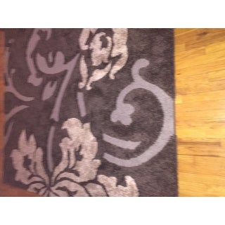 Safavieh Florida Shag Dark Brown/ Smoke Floral Area Rug (8' x 10')