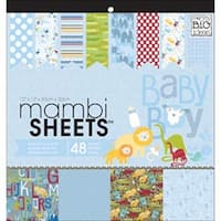 "Oh Baby Boy - Mambi Specialty Cardstock Pad 12""X12"" 48/Pkg"