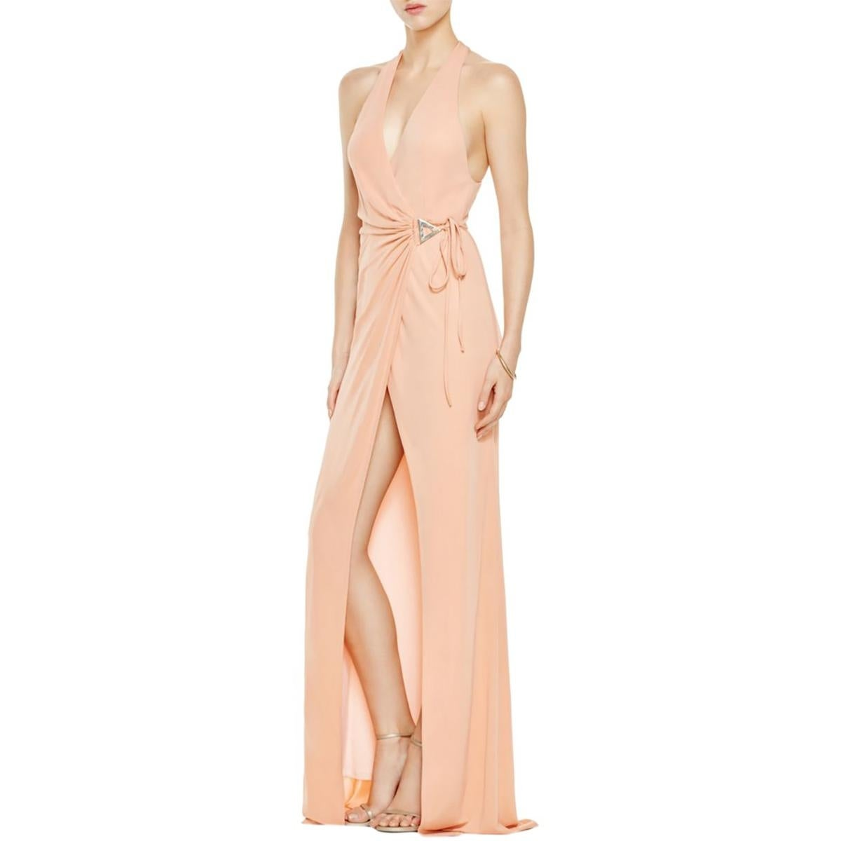 ABS by Allen Schwartz Womens Evening Dress Wrap Halter - Free ...
