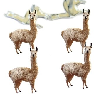 Eyelet Outlet Shape Brads 12/Pkg-Llama