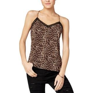 Jessica Simpson Womens Juniors Tank Top Animal Print Sleeveless