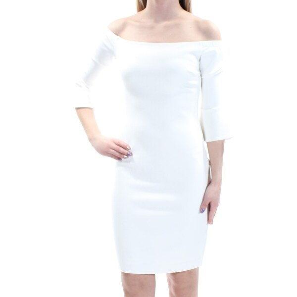 Shop Womens White Bell Sleeve Above The Knee Body Con Formal Dress Size  XS  - Free Shipping On Orders Over  45 - Overstock - 21591408 413dac267