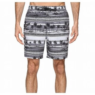 Quiksilver NEW Gray Mens Size XL Trunks Printed Drawstring Swimwear