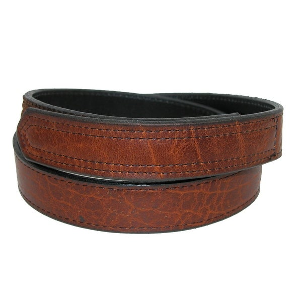 Boston Leather Men's Bison Leather Hook and Loop Mechanics and Movers Belt