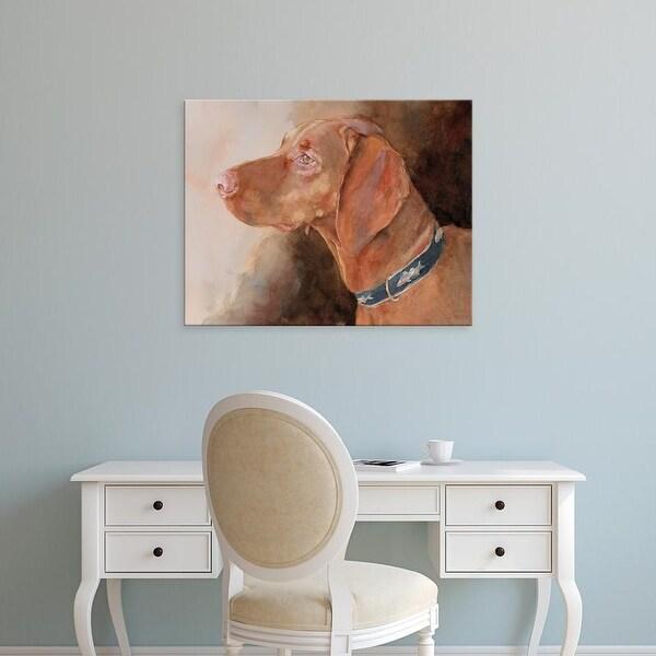Easy Art Prints Edie Fagan's 'Bowden Vizsla' Premium Canvas Art
