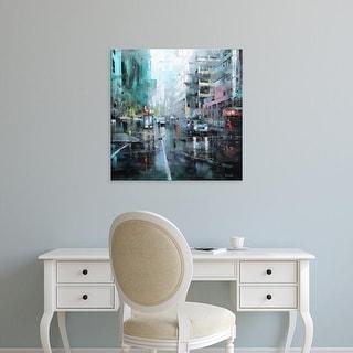 Easy Art Prints Mark Lague's 'Montreal Turquoise Rain' Premium Canvas Art