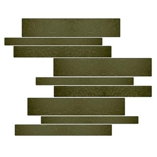 Miseno MT-G1REED Horizontal Mosaic Wall Tile (10.92 SF / Carton)