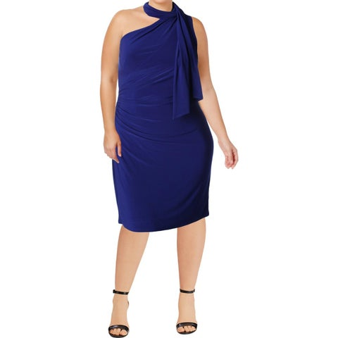 Lauren Ralph Lauren Womens Akando Cocktail Dress One Shoulder Party