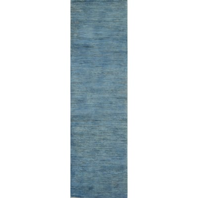 "Contemporary Gabbeh Kashkoli Oriental Wool Runner Rug Handmade - 2'6"" x 9'9"""