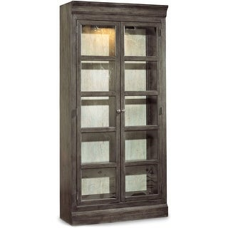 "Hooker Furniture 5700-75902  40"" Wide Solid Hardwood Display Cabinet from the Vintage West Collection - Dramatic Dark Charcoal"