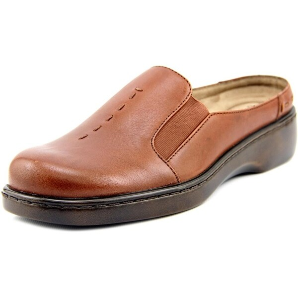 Auditions Harmony Women N/S Round Toe Leather Brown Mules