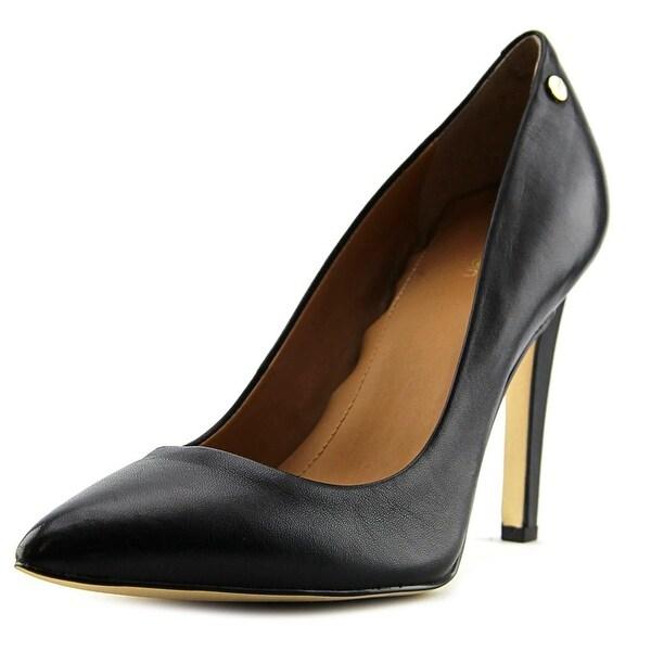 384c41c688b Shop Calvin Klein Brady Women Pointed Toe Leather Black Heels - Free ...