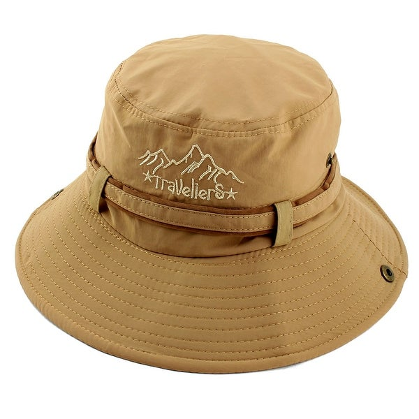 59fc92984f5 Fisherman Cotton Blends Sports Climbing Brim Bucket Summer Cap Fishing Hat  Khaki