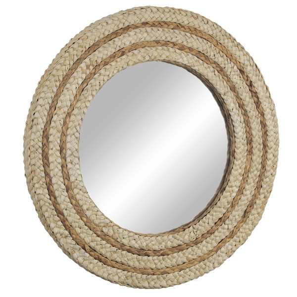 """Woven Rattan Accent Mirror 21"""" - Brown. Opens flyout."""