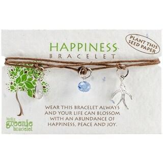 Greenie Bracelet 1/Pkg-Happiness