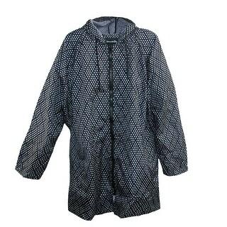 ShedRain Women's Pattern Long Sleeve Packable Rain Jacket