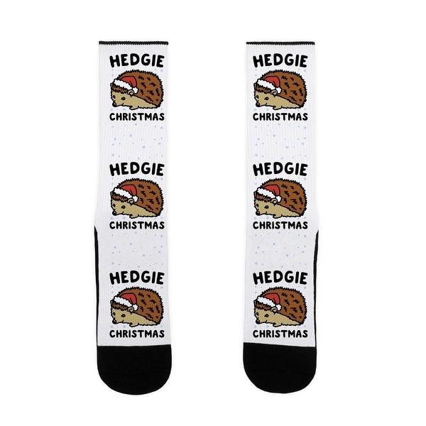 Hedgie Christmas US Size 7-13 Socks by LookHUMAN