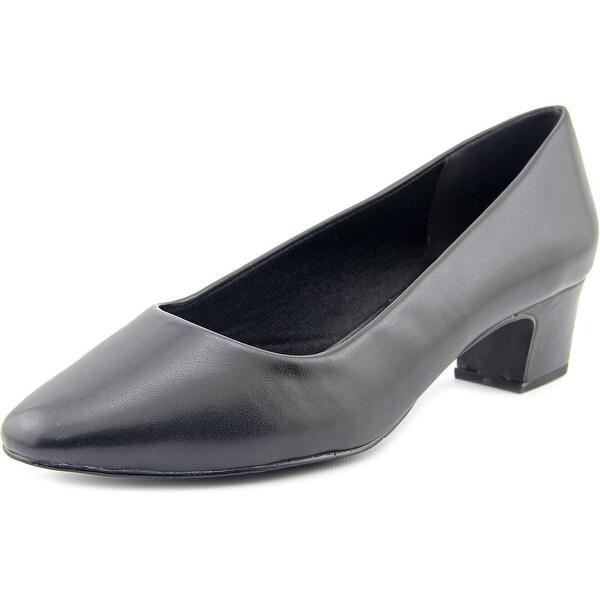 Easy Street Prim Women Round Toe Synthetic Black Heels