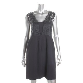 Tahari ASL Womens Petites Cocktail Dress Lace Sleeveless - 6P