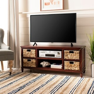 """Link to Safavieh Rooney Cherry 4-Drawer Storage 20"""" Entertainment Console - 47.2"""" x 15.7"""" x 20.1"""" Similar Items in Media Cabinets"""