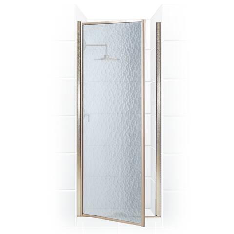 "Coastal Shower Doors L28.66-A Legend Series 28"" x 64"" Framed Hinge Shower Door with Obscure Glass"
