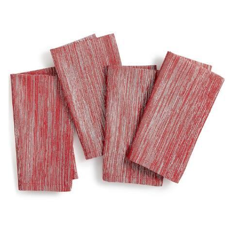 """Homewear Aland 18"""" x 18"""" Napkin Set of 4 - Red - 18"""" x 18"""""""