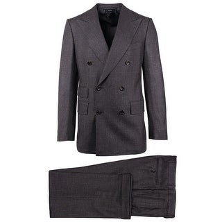 Tom Ford Dark Gray Shelton Double Breasted 2PC Suit - 38 r