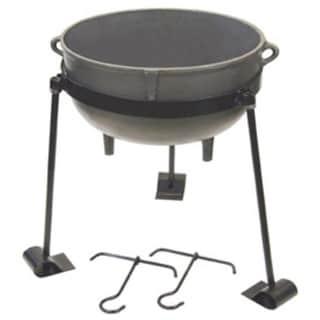 Bayou Classic CI-7430 30 Gallon Cast Iron Jambalaya Pot Set - gray
