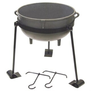 Bayou Classic CI-7430 30 Gallon Cast Iron Jambalaya Pot Set - gray