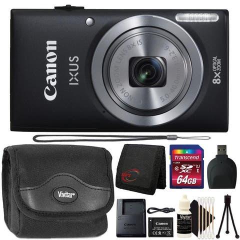 Canon PowerShot IXUS 185 / ELPH 180 20MP Digital Camera 64GB Bundle