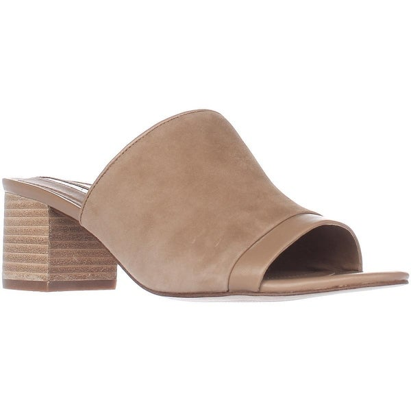 Shop Tahari Daisie Low Heel Slide Sandals Fawn On Sale
