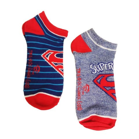 HYP Comics DC Superman Ankle Socks 2-Pack Sock Size 9-11 - Sock Size 9-11