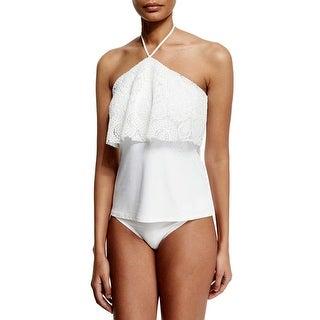 Michael Kors Womens La Vie Boheme Two Piece Set Swimsuit Small S White