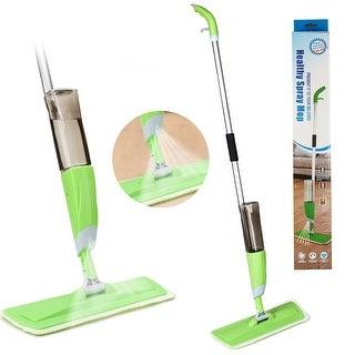 HK Spray Mop-360° Microfiber Floor Spray Mop Cleaner Starter W/ Integrated Spray & Refillable 600Ml Capacity Bottle - N/A