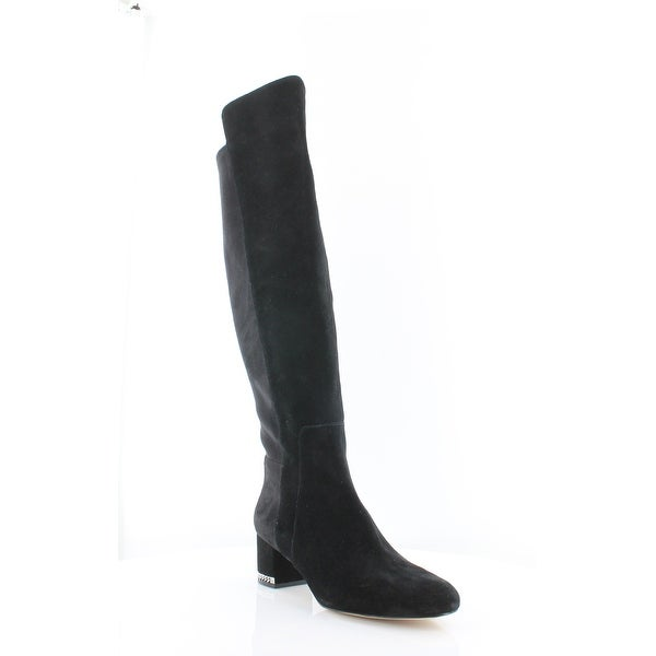 Michael Kors Sabrina Tall Women's Boots Black Suede - 6