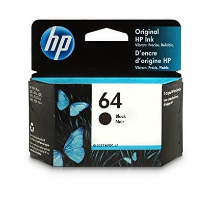 HP 64 (N9J90AN) Black Original Ink, 200 Page-Yield