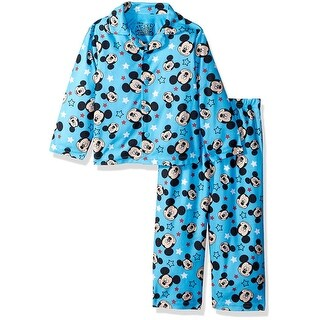 Disney Boys 2T-4T Mickey Mouse Coat Pajama Set - Blue