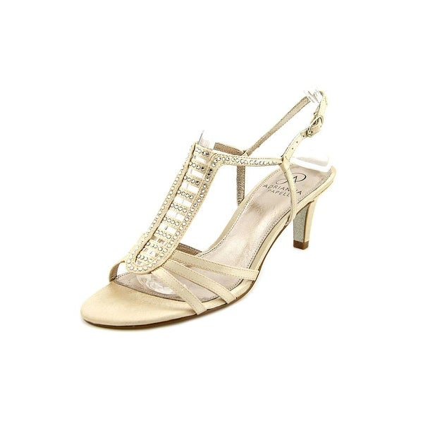 Adrianna Papell Ainsley Women Open Toe Canvas Nude Sandals