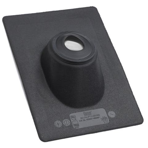 """Oatey 11891 No-Calk Standard Base Roof Flashing, 4"""", Thermoplastic"""
