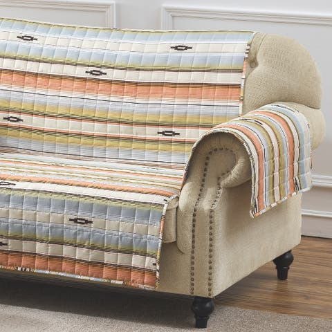 Barefoot Bungalow Painted Desert Reversible Loveseat Protector - 103 x 76 inches