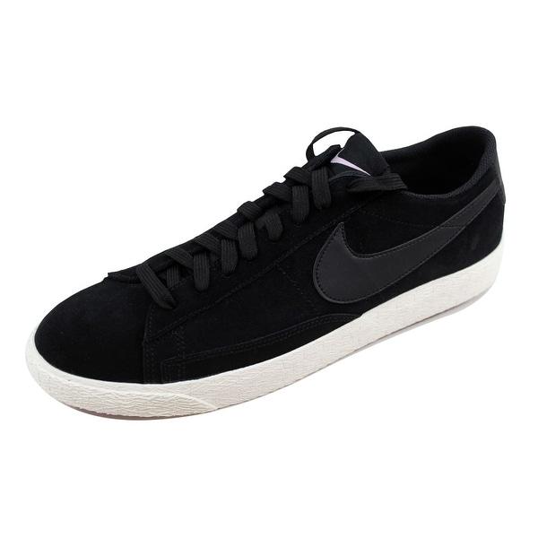 Nike Men's Blazer Low Black/Black-Sail-Iced Lilac 371760-024